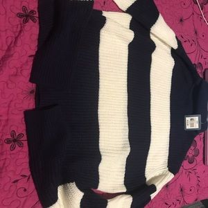 Sweater blue with white stripes